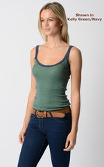 Wow 55% Off! Our Navy Microstripe & Lace Camisole - product images 6 of 8