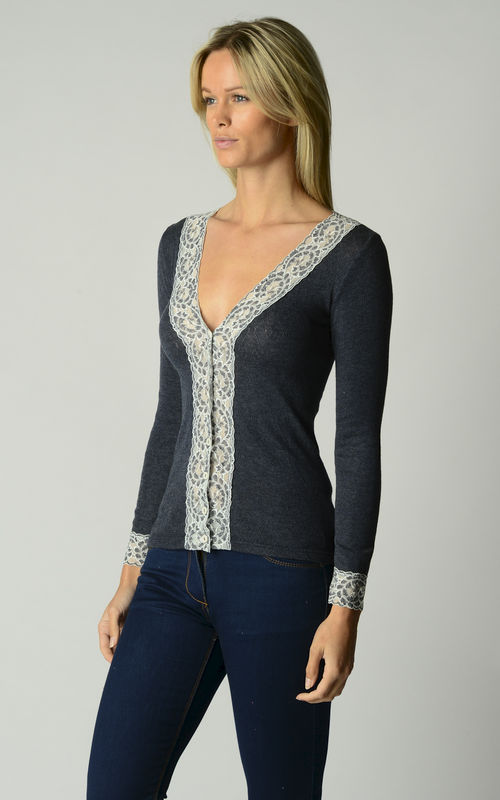 Brand New Colours!! In Our Original Short Style Lace Cuff Cardigan - product image