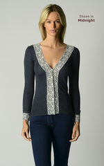 Brand New Colours!! In Our Original Short Style Lace Cuff Cardigan - product images 1 of 6