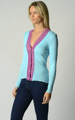 50% Off These Colours..In Our Fuchsia Lace Cardigan - product images 3 of 4