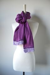 NOW 60% Off!! Our Exclusive Wide Lace & Ribbon Trim Scarf - product images 2 of 5