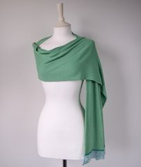 NOW 60% OFF!! -Our Exclusive Wide Lace & Ribbon Trim Scarf - product images 3 of 3
