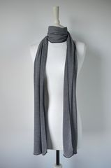 Wow Over 60% Off! Our Black Micro Stripe Knit Super Soft Scarf in White - product images 2 of 5