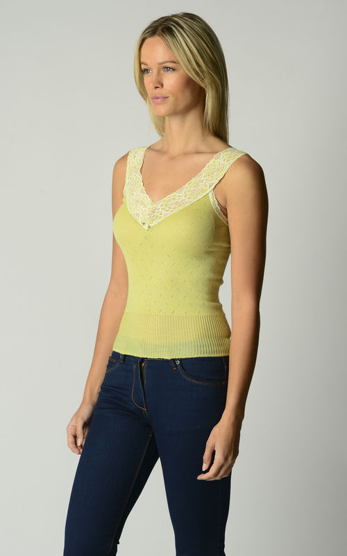 New Colours & Now 60% Off!! Our Classic Short Style Wide Strap Lace Camisole - product image