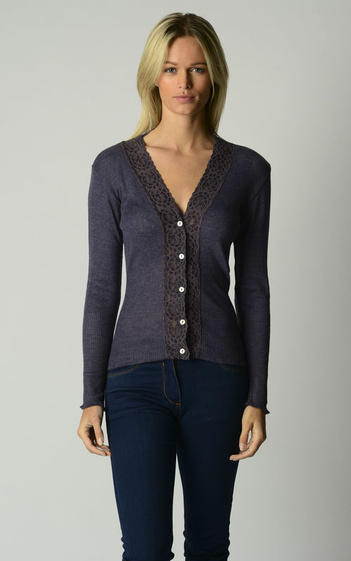 35% Off Our Mocha Lace Cardigan & Camisole Set - product image