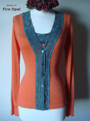 Now 25% Off Our Jade Wide Lace Cardigan - product images 1 of 1