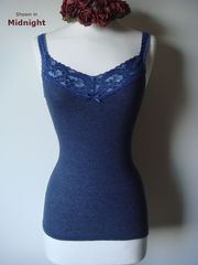 Now 30% Off! Electric Blue Wide Lace Camisole & Cardigan Set - product images 2 of 2