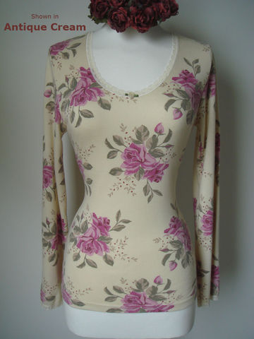 Now,70%,Off,!!...Our,Vintage,Rose,Print,Long,Sleeve,Top,Rose Print Top, Rose Print Lace Top, Printed Top, Lace Top, Lace Trim Top, Palace, Palace London, Vintage, Palace London Clothing