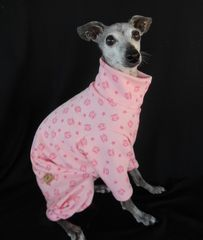 Julius,Monkey,100%,Cotton,Thermal,Italian,Greyhound,Romper-custom,made,italian greyhound, julius monkey, romper, jammies, warm, winter dog clothes,chinese crested, american hairless terrier, spoiled bratzwear, custom dog clothes, skull, crown, princess, punk, gothic dog, thermal, cotton, natural