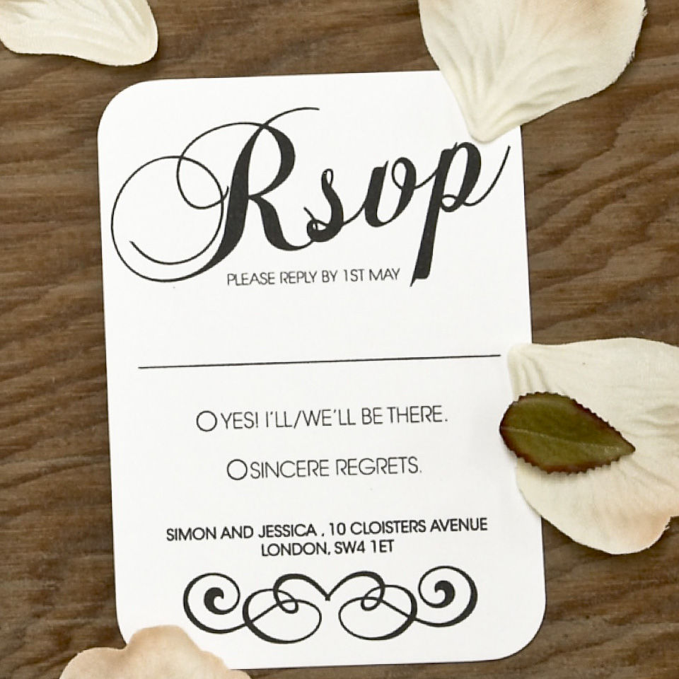 Vintage wedding rsvp card doodlelove for Rsvp stand for on an invitation
