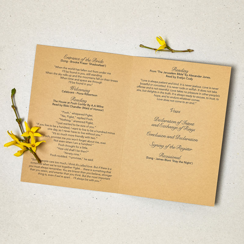 how to print order of service booklet