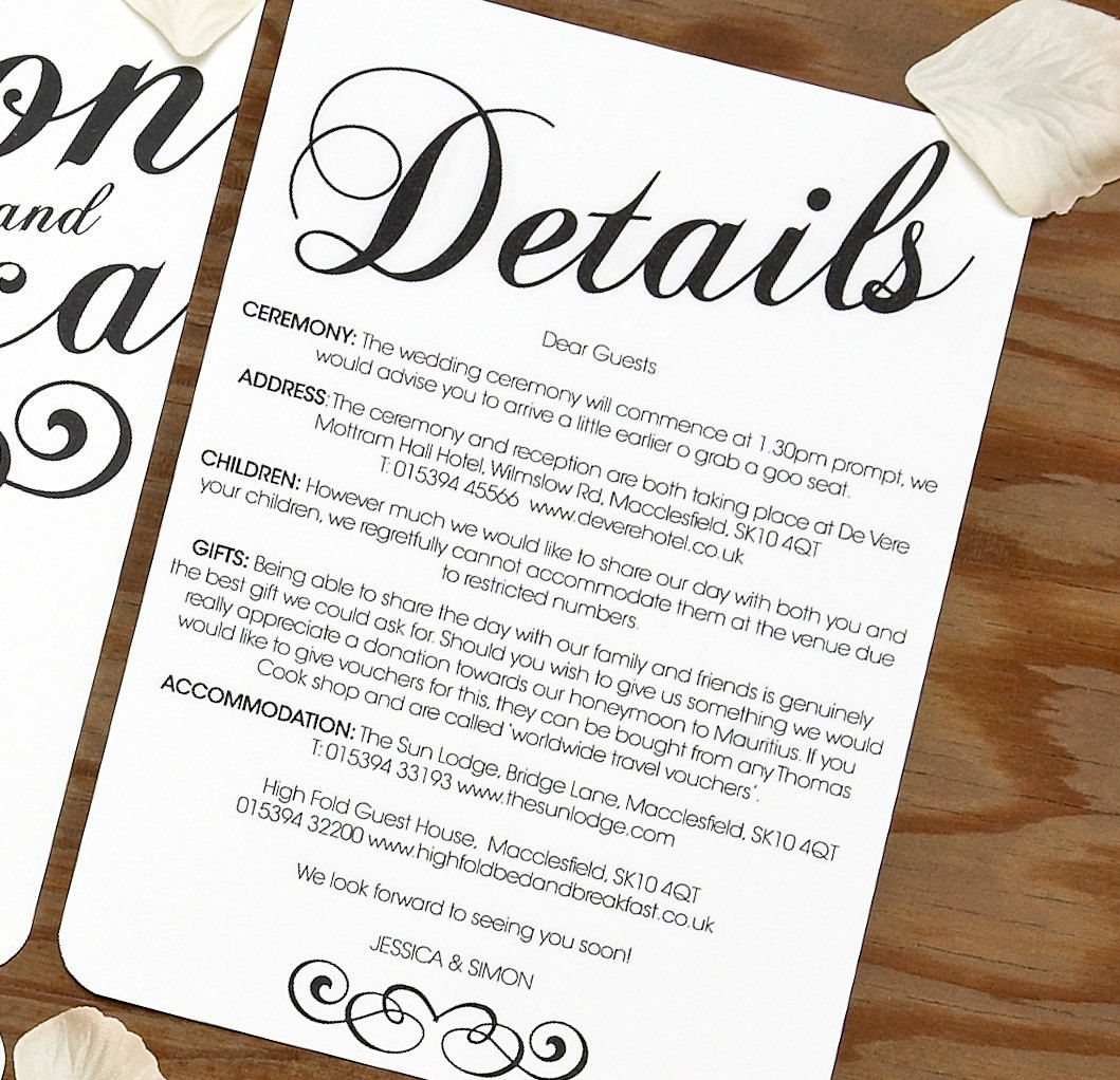 Classy Wedding Invitations with best invitations layout