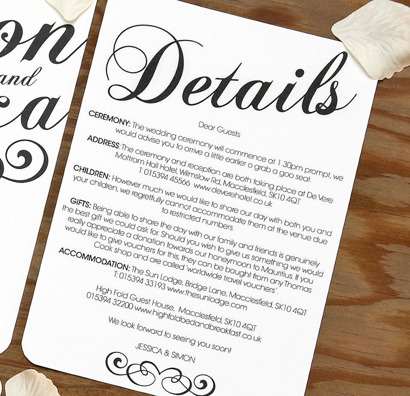 Wedding Gift Suggestions Info : Vintage Wedding Invitation SAMPLE Setproduct images of