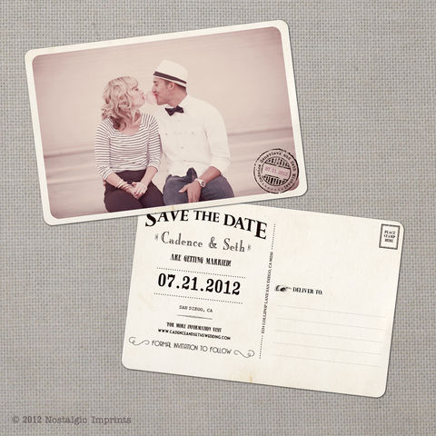 Cadence,-,4x6,Vintage,Photo,Save,the,Date,Postcard,vintage save the date, Weddings, Card, save the date, custom photo card, photo save the date card, photo card, vintage card, 4x6, postcard, post card, retro