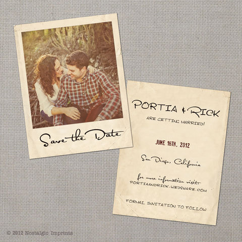 Portia,-,4.25x5.5,Vintage,Photo,Save,the,Date,Card,vintage save the date, Weddings, Card, save the date, custom photo card, photo save the date card, photo card, vintage card, 4x6, postcard, post card, retro