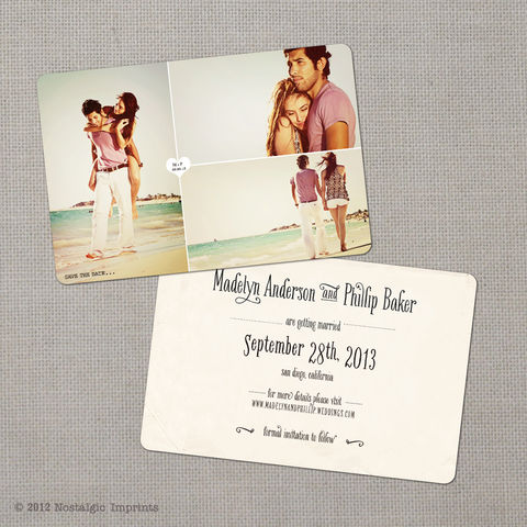 Madelyn,2,-,4x6,Vintage,Photo,Save,the,Date,Card,vintage save the date, Weddings, Card, save the date, custom photo card, photo save the date card, photo card, vintage card, 4x6, postcard, post card, retro