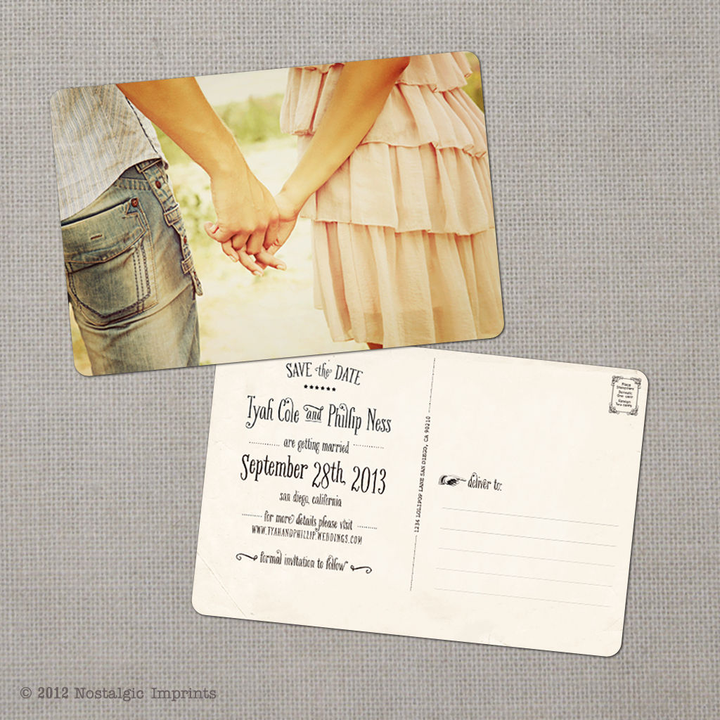 Save the Date, Kraft Save the Date, Rustic Save the Date Postcard ...