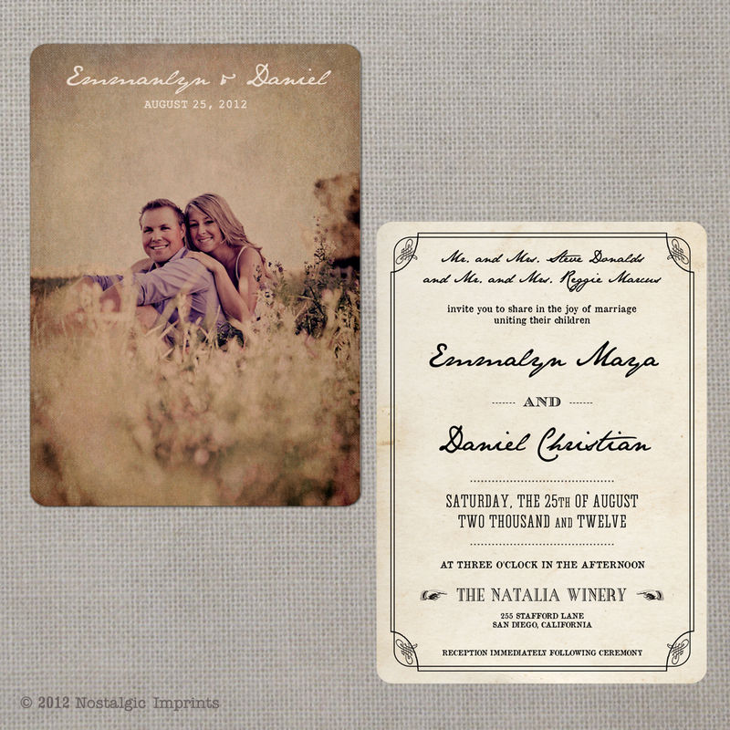 vintage invitations vintage announcements invites party With vintage email wedding invitations