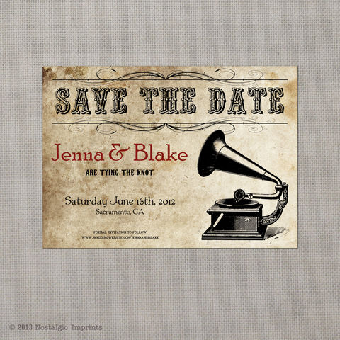 Jenna,-,5x7,Vintage,Photo,Save,the,Date,Card,vintage save the date, Weddings, Card, save the date, custom photo card, photo save the date card, photo card, vintage card, 4x6, postcard, post card, retro