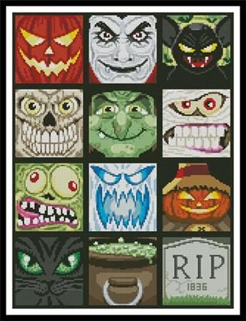 Halloween Minis Cross Stitch Pattern - product images 1 of 1