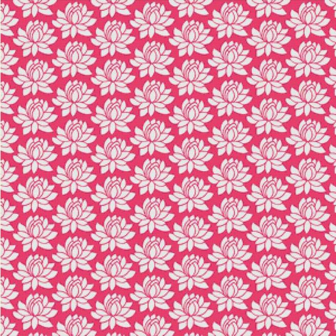 Lotus Cross Stitch Pattern Pink Lotus Cross Stitch