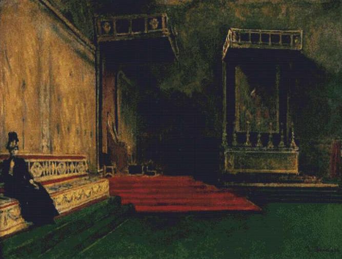 Interior Of The Sistine Chapel Cross Stitch Pattern X Squared Cross Stitch