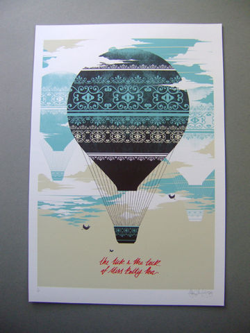 Balloon,Sky,Giclée Print, Art Print, Signed Print, Limited Edition