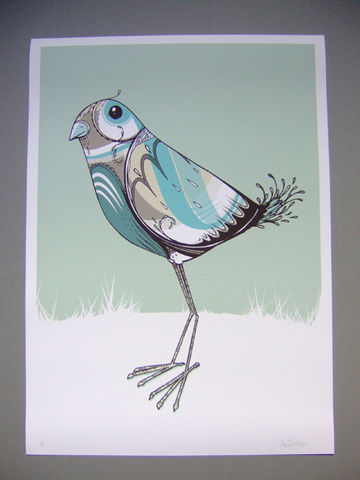 Birdie,Pea,Giclée Print, Art Print, Signed Print, Limited Edition