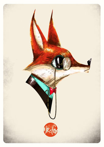 Mr.Fox,Giclée Print, Art Print, Signed Print