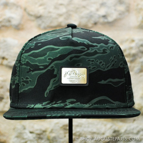 Snapback,10,Deep,Green,Tiger,Stripe,snapback, 10 deep