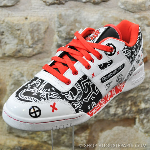 REEBOK,CLASSIC,X,KEITH,HARING,WORKOUT,reebok, sneakers, workout, reebok keith haring