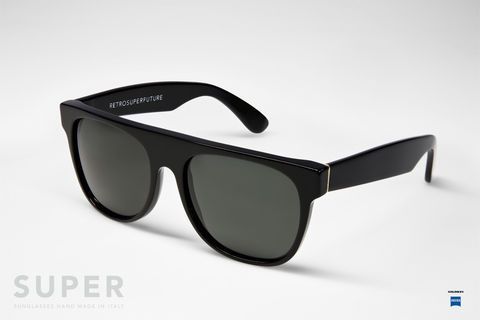 RETROSUPERFUTURE,FLAT,TOP,BLACK,retrosuperfuture, sunglasses, lunettes de soleil