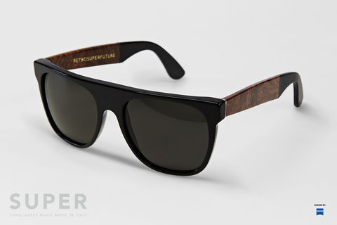 RETROSUPERFUTURE,Flat,Top,Black,&,Briar,retrosuperfuture, sunglasses, lunettes de soleil