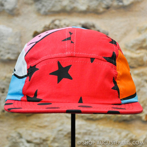 Snapback,5,Panels,Rockwell,by,Parra,Abstract,head,Camp,hat,rockwell, rockwell by parra, parra, 5 panels