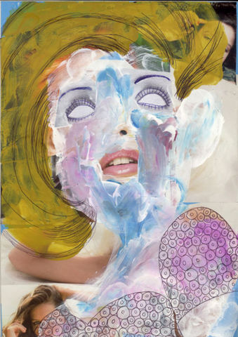 PAINTING697,Claudio Parentela,Contemporary Paintings,Mixed Media,Illustrations,Collages