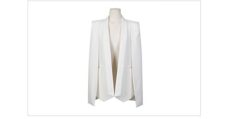(PREORDER) White Cape Blazer - product images  of