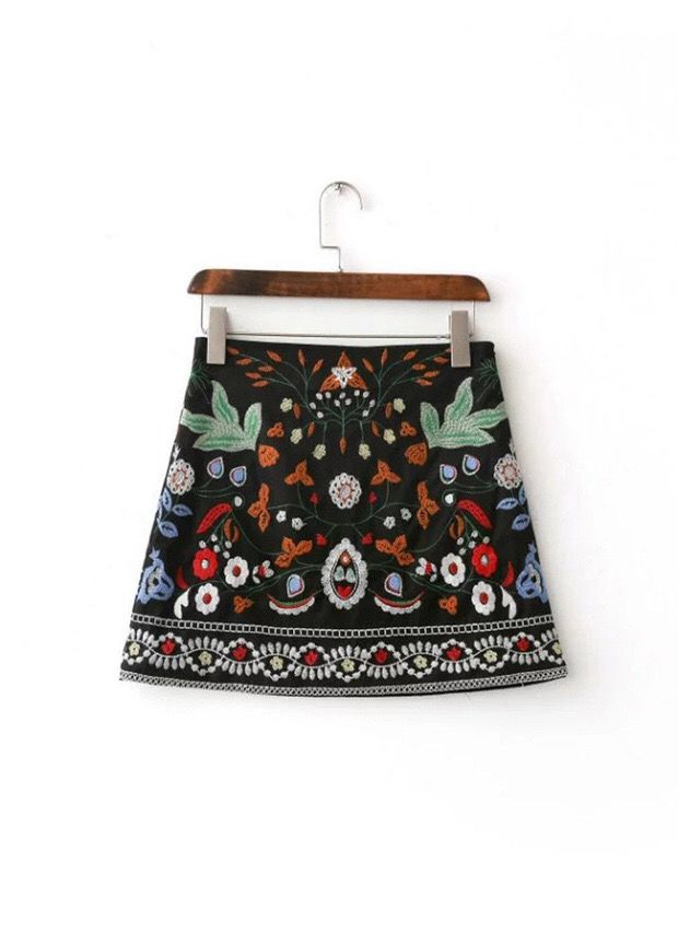 Zyzy Embroidered Mini Skirt - product images  of