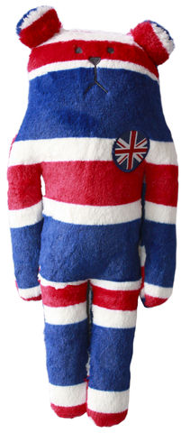 Rock,Sloth,Bear,Soft,Hug,Toy,(Small),great britain, union jack, red blue, white, rock, bear, sloth, accent, peace, love, cute, fun, japanese, holiday, vacation, craftholic, craft, plush, soft toy, plain, soft, polyester, kids, children, english, british, gb, scotland, national, flag