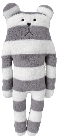 Standard,Sloth,Bear,Soft,Hug,Toy,(Small),soft toy, kawaii, cute, cuddly, stripes, stripy, bear, grey, love, fun, japanese, accent, craftholic, craft, plush, soft toy, plain, soft, polyester, kids, children, baby, gift, vintage, white
