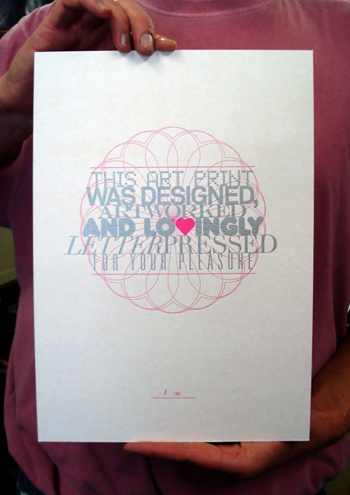 Letterpressed Art Print - product images  of