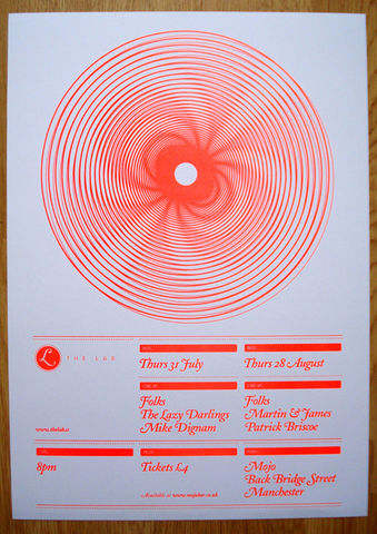 The,Lab,Gig,Poster,Litho, print, neon, pantone, loose collective, graham jones, limited edition