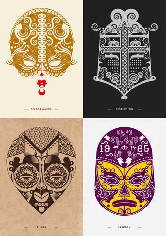 'Faces,from,Places',letterpressed,prints,letterpress, masks, illustration, graphics, prints, Jonny Wan, designer, heidelberg, printer