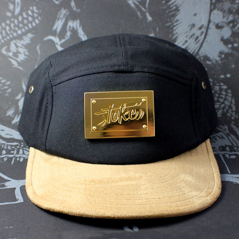 Toke,-,Gold,Badge,5,Panel,Hat