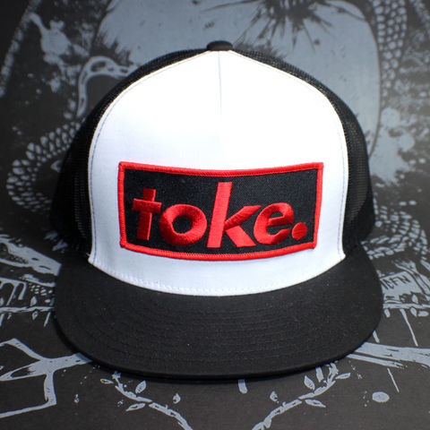 Toke,-,Black,&,Red,Trucker,Hat