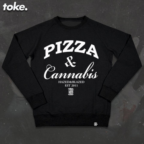 Toke,-,PIZZA,WEED,Sweatshirt,Toke - PIZZA WEED - Sweatshirt