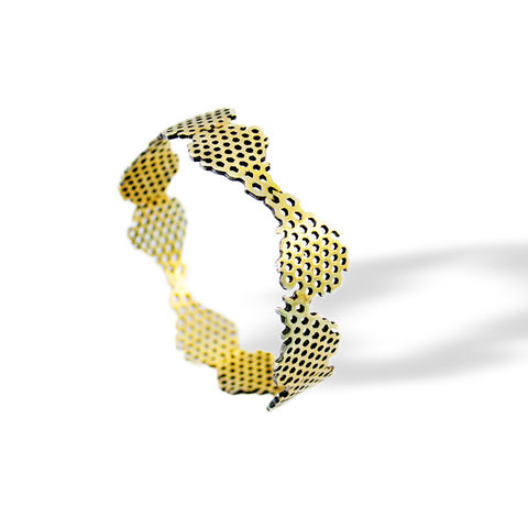 Honeycomb,Bracelet,bracelet, honeycomb, art jewellery, big jewellery, contemporary art, contemporary jewellery, silver bracelet, fine silver, sterling silve, gold plated, oxidation, unique, special, ocasional, huge jewellery, fashion jewellery