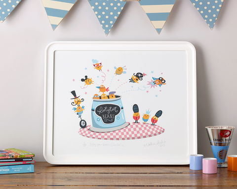 Full,of,Beans!,Beans, Rootytoot Beans, Baked Beans, Kitchen, Limited edition prints, Children's rooms