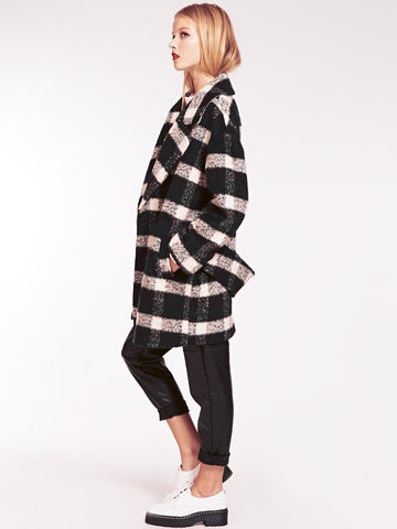 Harlow,Monochrome,Checked,Cocoon,Coat