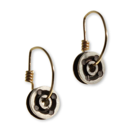 4pT.Coil,Hoop,Earrings,anastasia young, earrings, jewellery, gold hoops, industrial, machina, cast silver earrings