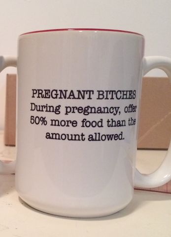 Pregnant,Bitches,Oversized,Coffee,Mug, zazzle, pregnant bitches, coffee
